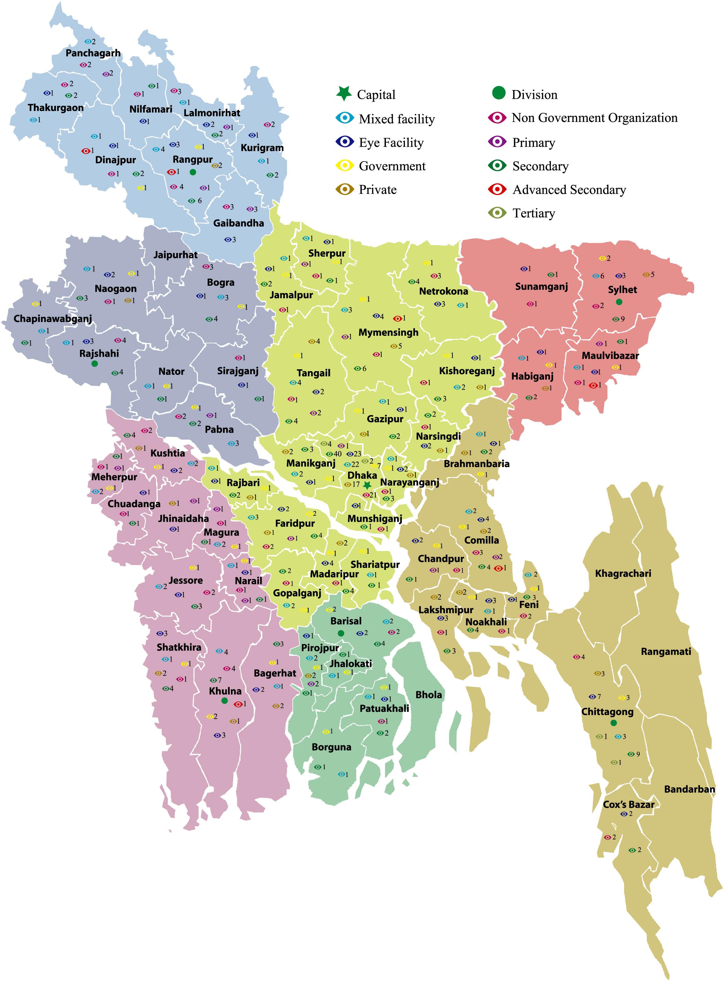 Eye Facilities In Bangladesh Bangladesh Eye Care Information - Bangladesh map download